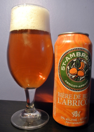 2017-04-30 - 133 - St. Ambroise Apricot Wheat Ale poured _500beers