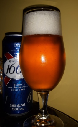 2017-10-09 - 4 - Kronenbourg 1664 poured _500beers