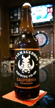 2017-05-22 - 160 - Farmageddon California Common bottle _500beers